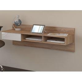 Designový psací stůl UNO, dub sonoma/bílý lesk