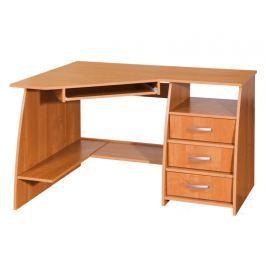 PC stůl se šuplíky SEVILLA 3, pravý, barva: