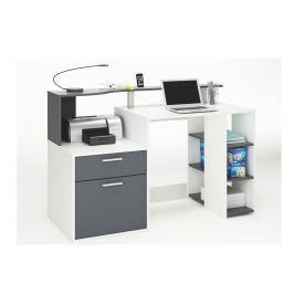 ORAKLE, psací stůl šíře 140 cm, bílá/grafit