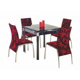 Jídelní stůl rozkládací KENT, černý