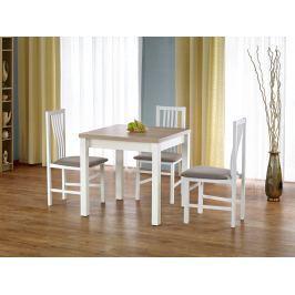 Jídelní stůl rozkládací GRACJAN, dub sonoma/bílá