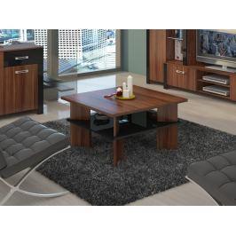 Konferenční stolek VECTRA 1, švestka wallis/černý lesk