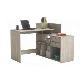 VISSTA, univerzální rohový psací stůl, dub shannon