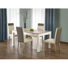 Jídelní stůl rozkládací SEWERYN, dub sonoma/bílá