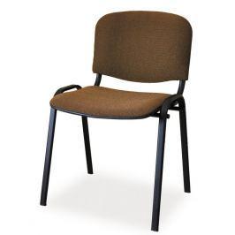 Čalouněná židle ISO, černá/hnědá
