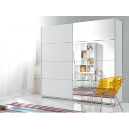 BETA šatní skříň se zrcadlem 200 TYP 57, bílá