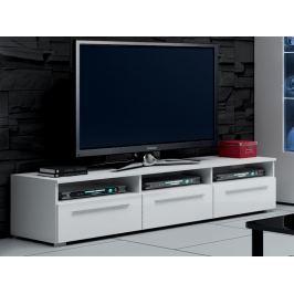 ROMA RTV stolek 150, bílá/bílý lesk