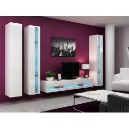 Obývací stěna VIGO NEW 6, bílá/bílý lesk