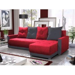 Rohová sedačka INSIGNIA BIS 18, červená/šedá