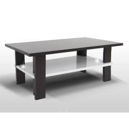 ANATOL konferenční stolek, wenge/bílý lesk