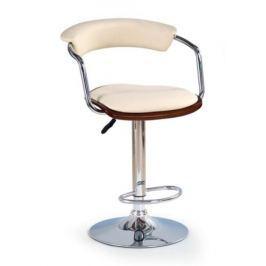 Barová židle H-19, třešeň antická/béžová