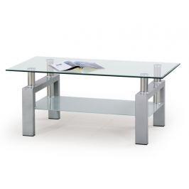 Konferenční stolek DIANA, stříbrná