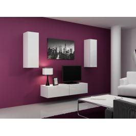 Obývací stěna VIGO 7, bílá/bílý lesk