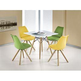 Jídelní stůl PROMETHEUS čtverec, bílá/buk