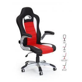Kancelářské křeslo LOTUS, černo-červená