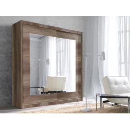 ALFA šatní skříň se zrcadlem 200 TYP 18, dub country