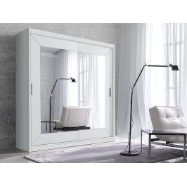 ALFA šatní skříň se zrcadlem 200 TYP 18, bílá