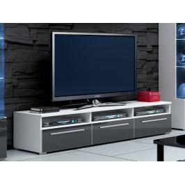 ROMA RTV stolek 150, bílá/šedý lesk