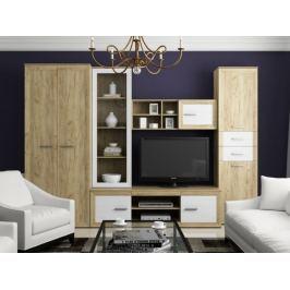 MAJORKA obývací stěna, dub kraft/borovice andersen
