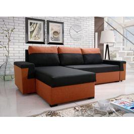 Rohová sedačka NESTE 1, černá látka/oranžová látka