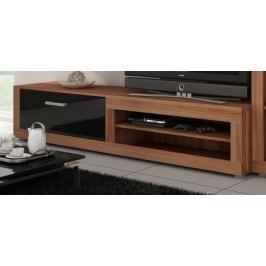 VIKY, televizní stolek 04, švestka wallis/černý lesk