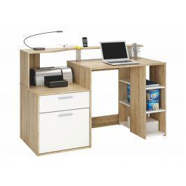 ORAKLE, psací stůl, dub sonoma/bílá
