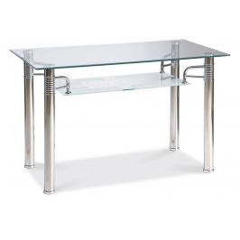 Jídelní stůl RENI A 120x65, kov/sklo