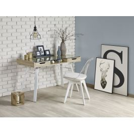 Moderní psací stůl B33,  dub sonoma/bílá
