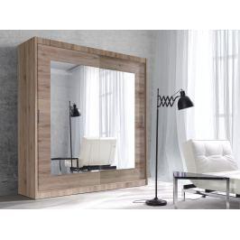 ALFA šatní skříň se zrcadlem 200 TYP 18, dub san remo