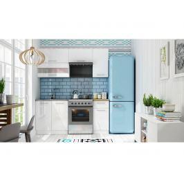 Kuchyně TIFFANY 120/180 cm, bílý lesk
