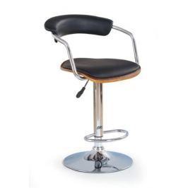 Barová židle H-19, ořech/černá