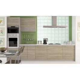 Kuchyně SILVER+ 340 cm, korpus grey, dvířka latte