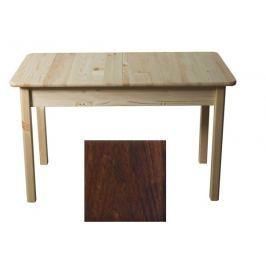 Stůl 120/155 x 75 cm nr.8, masiv borovice/moření ořech