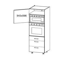 HAMPER vysoká skříň DPS60/207 SAMBOX, korpus šedá grenola, dvířka dub sanremo světlý