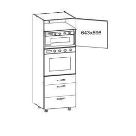 TAFNE vysoká skříň DPS60/207 SMARTBOX pravá, korpus congo, dvířka bílý lesk