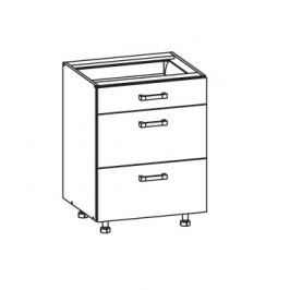 TAFNE dolní skříňka D3S 60 SMARTBOX, korpus šedá grenola, dvířka bílý lesk