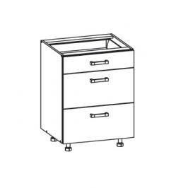 TAFNE dolní skříňka D3S 60 SMARTBOX, korpus šedá grenola, dvířka béžový lesk