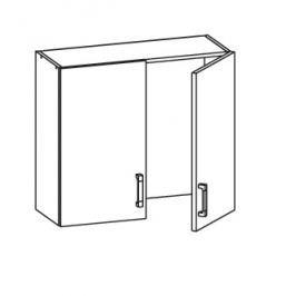 TAPO PLUS horní skříňka GC80/72, korpus congo, dvířka grafit lesk