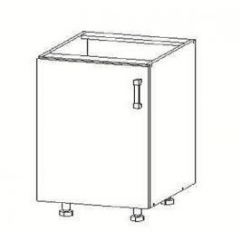 TAPO PLUS dolní skříňka D45, korpus šedá grenola, dvířka bílý lesk