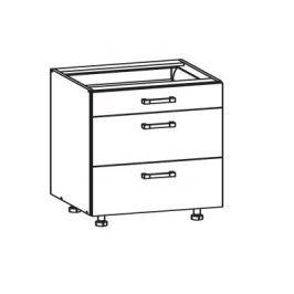 TAPO PLUS dolní skříňka D3S 80 SMARTBOX, korpus šedá grenola, dvířka bílý lesk
