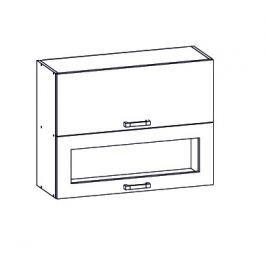 PESEN 2 horní skříňka G2O 80/72, korpus bílá alpská, dvířka dub sonoma hnědý