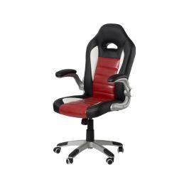 Kancelářské křeslo ADK GREMO, černá + červená ekokůže