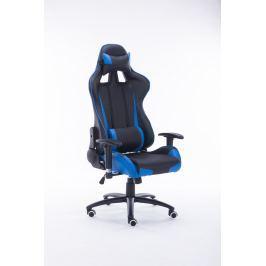Kancelářské křeslo ADK RUNER, černá + modrá ekokůže
