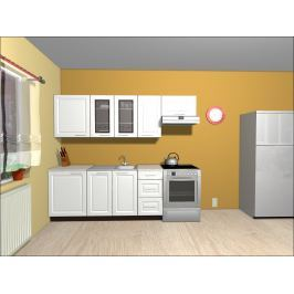 Kuchyně OLDER 180/240 cm, bílá canadian
