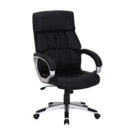 Kancelářské křeslo Q-075 - černá ekokůže
