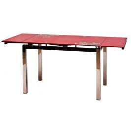Jídelní stůl GD-017 rozkládací, červená