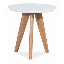 Konferenční stolek MILAN S1, bílá