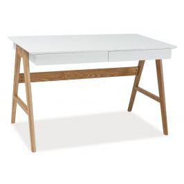 Psací stůl SCANDIC B1 bílá/dub