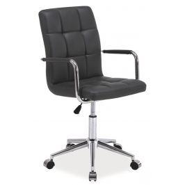 Kancelářská židle Q-022 šedá ekokůže