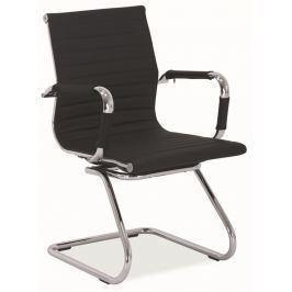 Kancelářská židle Q-123 černá ekokůže